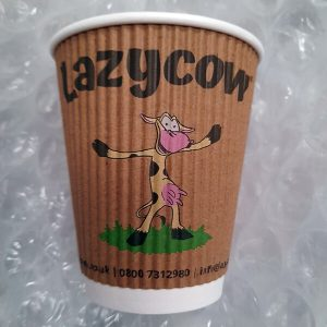 Lazy cow branded cups